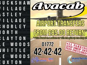 *****Reduced Airport Rate for parts of Chorley Area*****